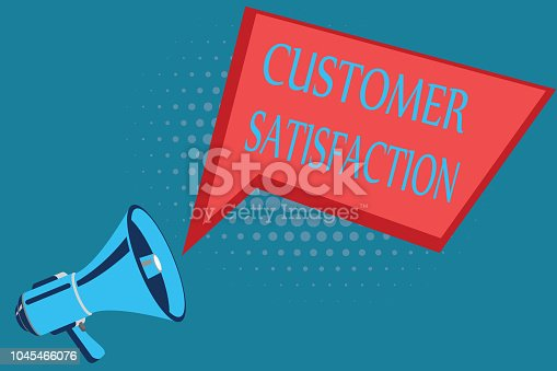 Word writing text Customer Satisfaction. Business concept for Exceed Consumer Expectation Satisfied over services.