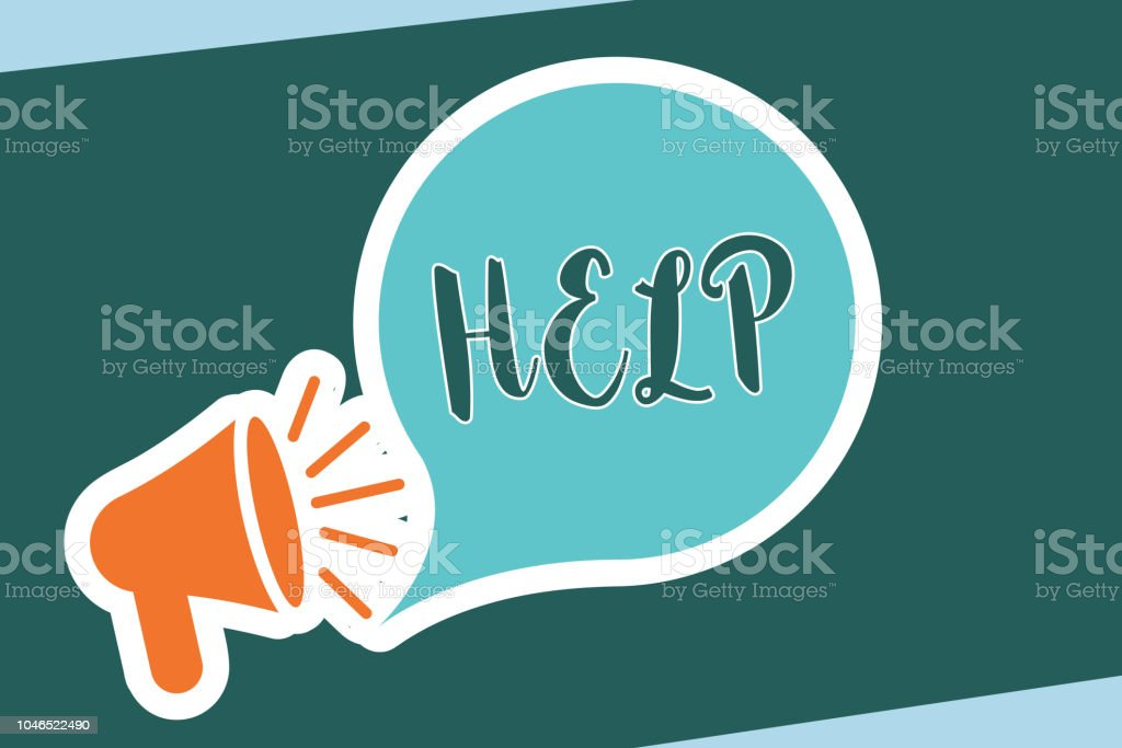 Word writing text Help. Business concept for The action of helping someone to do something Improve a situation vector art illustration