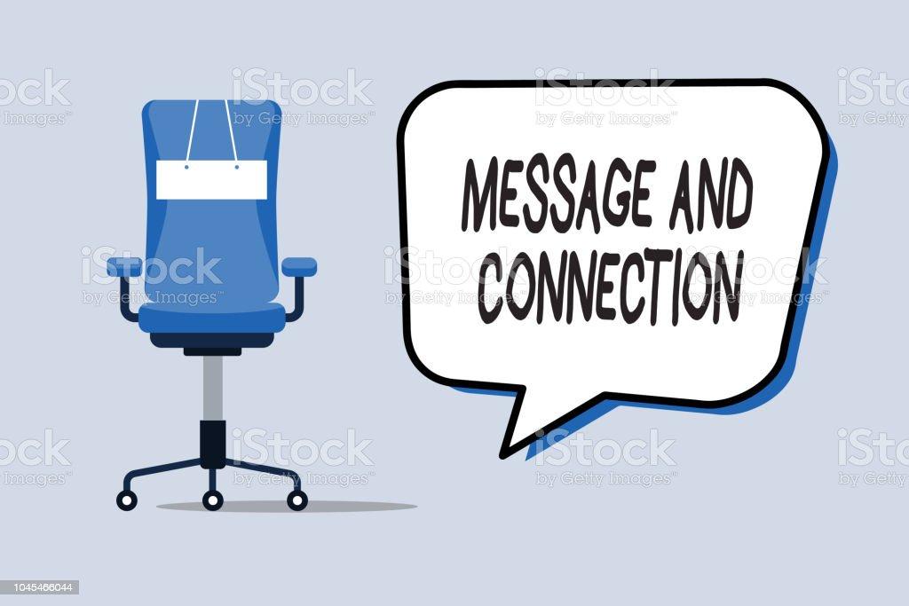 Word Text Nachricht Und Verbindung Zu Schreiben Businesskonzept Für
