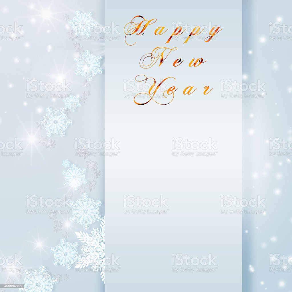 words happy new year written on blue christmas sparkly background royalty free words happy