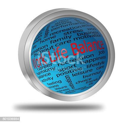 blue work life balance button