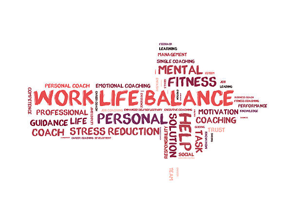 Work life Balance word cloud vector art illustration