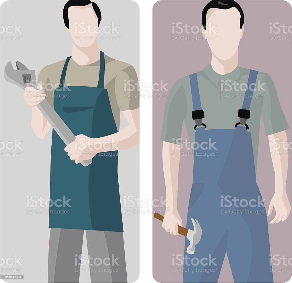 Worker Vector Illustrations Series royalty-free stock vector art