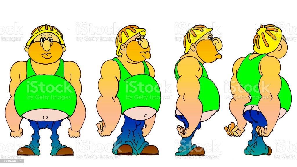 Working Man vector art illustration