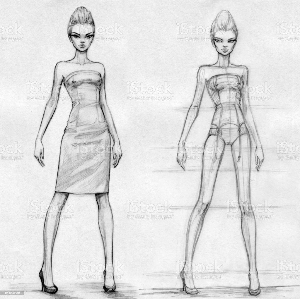 Treinar. Modelos (preto e branco - ilustração de arte vetorial
