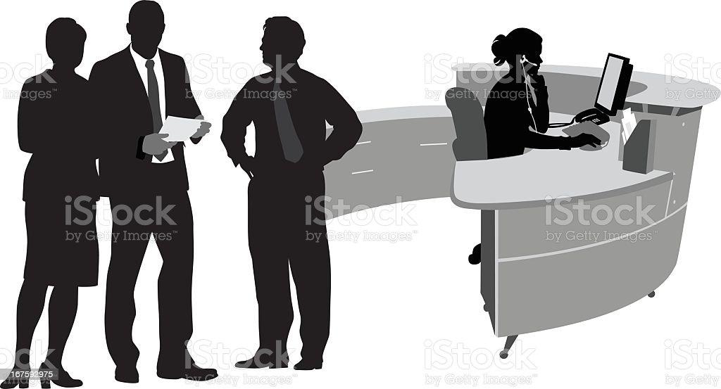 Working Vector Silhouette vector art illustration