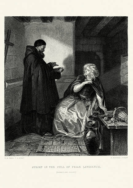 works of william shakespeare - romeo and juliet - romeo and juliet stock illustrations, clip art, cartoons, & icons