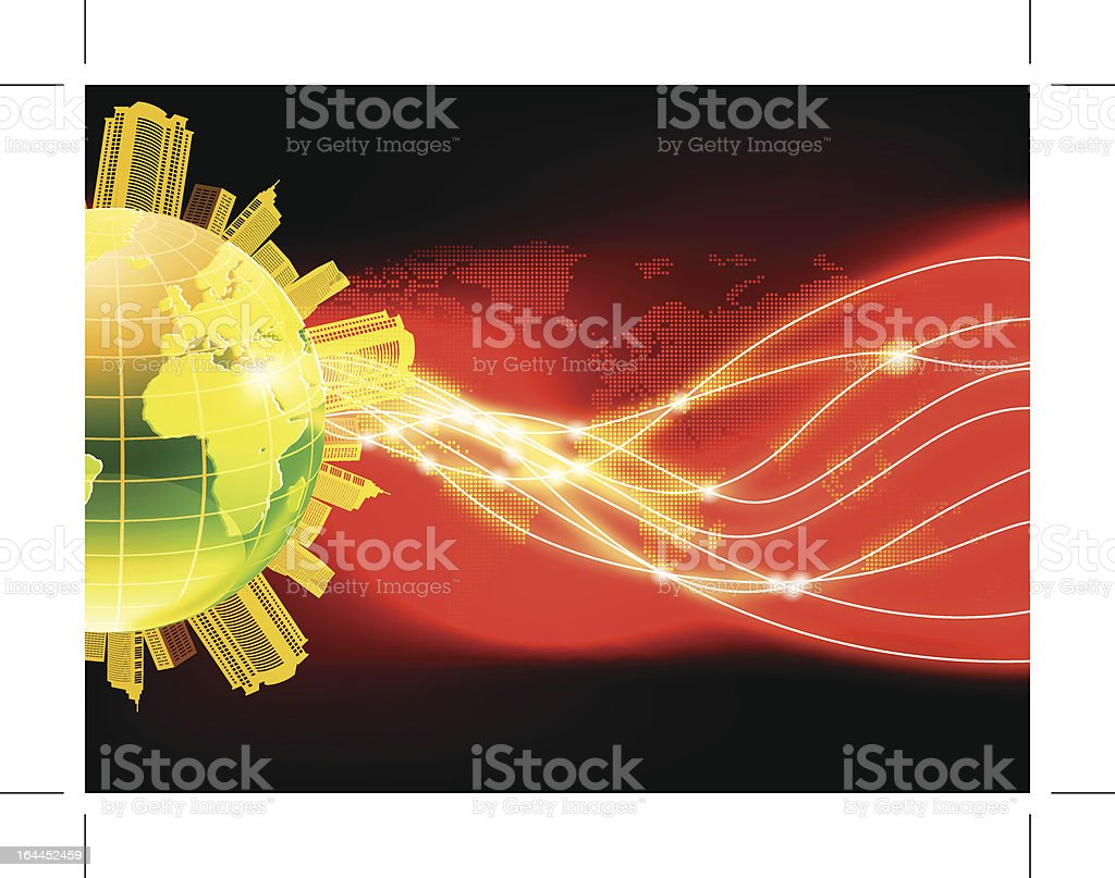 world and light royalty-free stock vector art