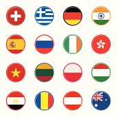 world flag icons 2 | sticky series