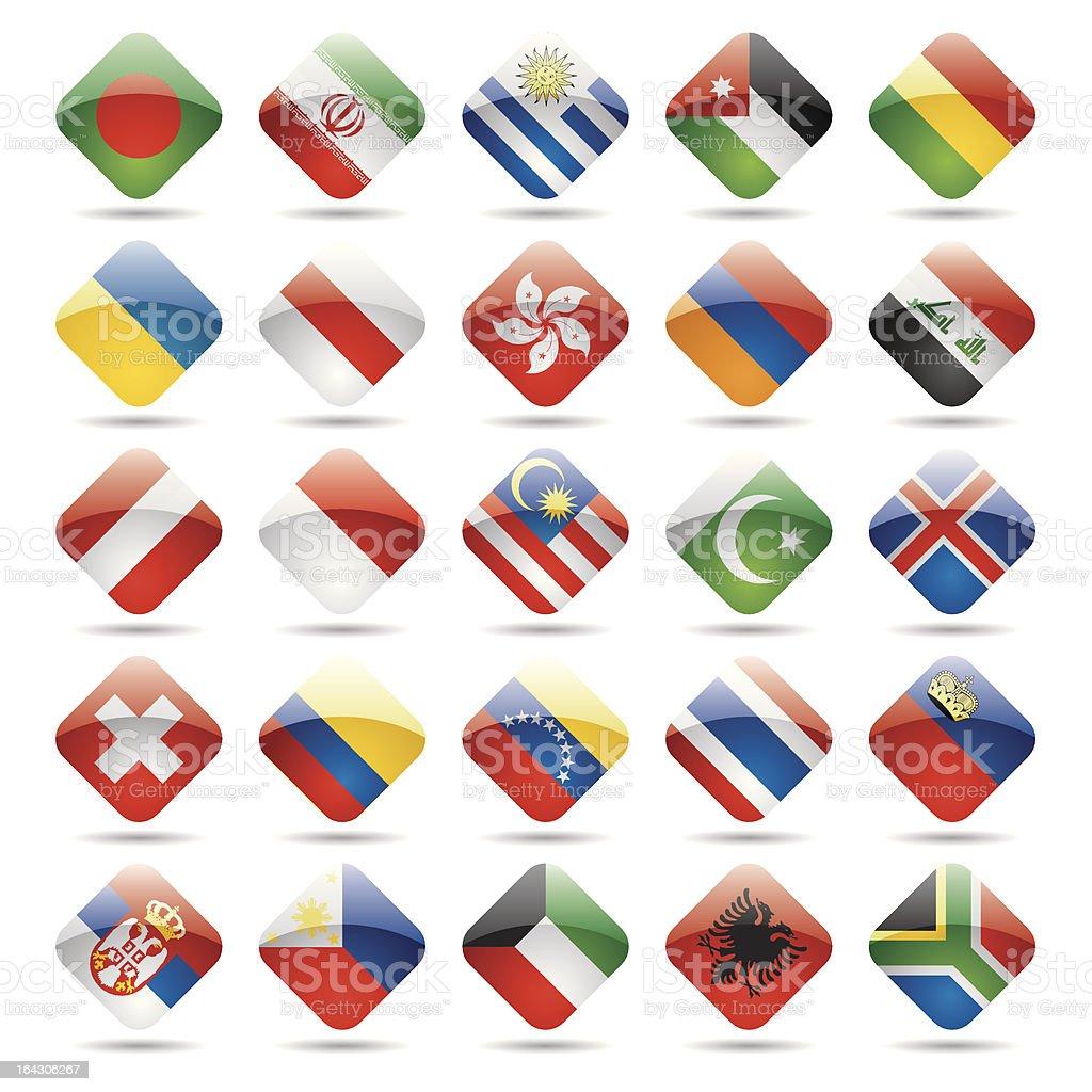 World flag icons 3 royalty-free stock vector art