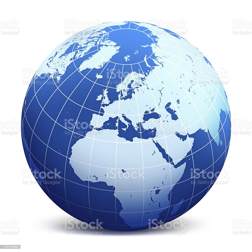 World Globe illustration world globe Blue stock illustration