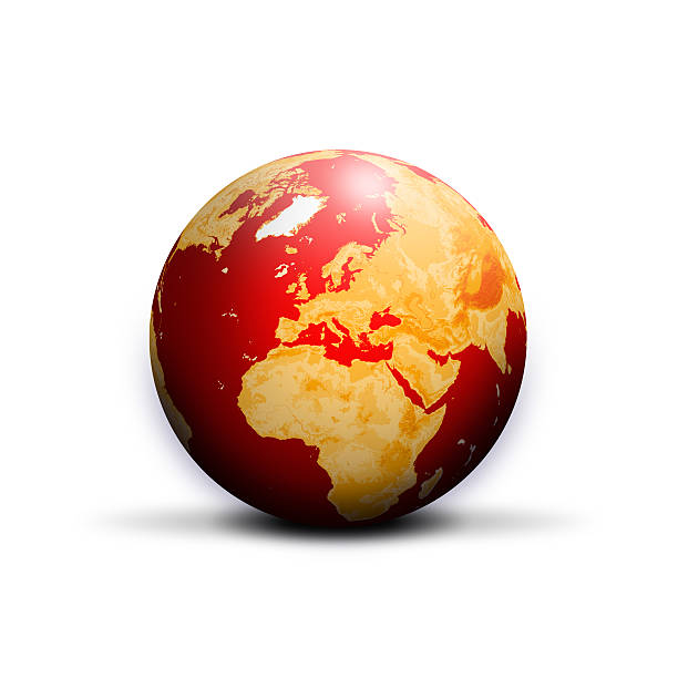 world globe vector art illustration