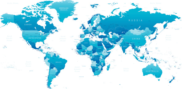 World - highly detailed map