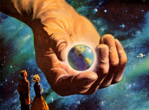 World in Hand World in Hand god stock illustrations