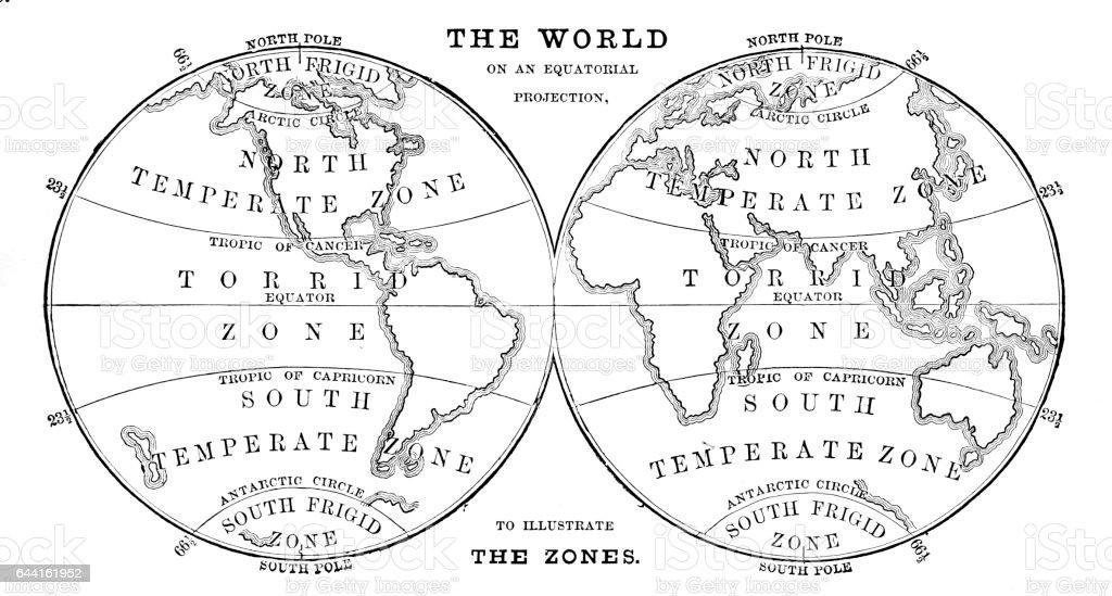 World in zones hemispheres 1881 stock vector art more images of world in zones hemispheres 1881 royalty free world in zones hemispheres 1881 stock vector art gumiabroncs Choice Image