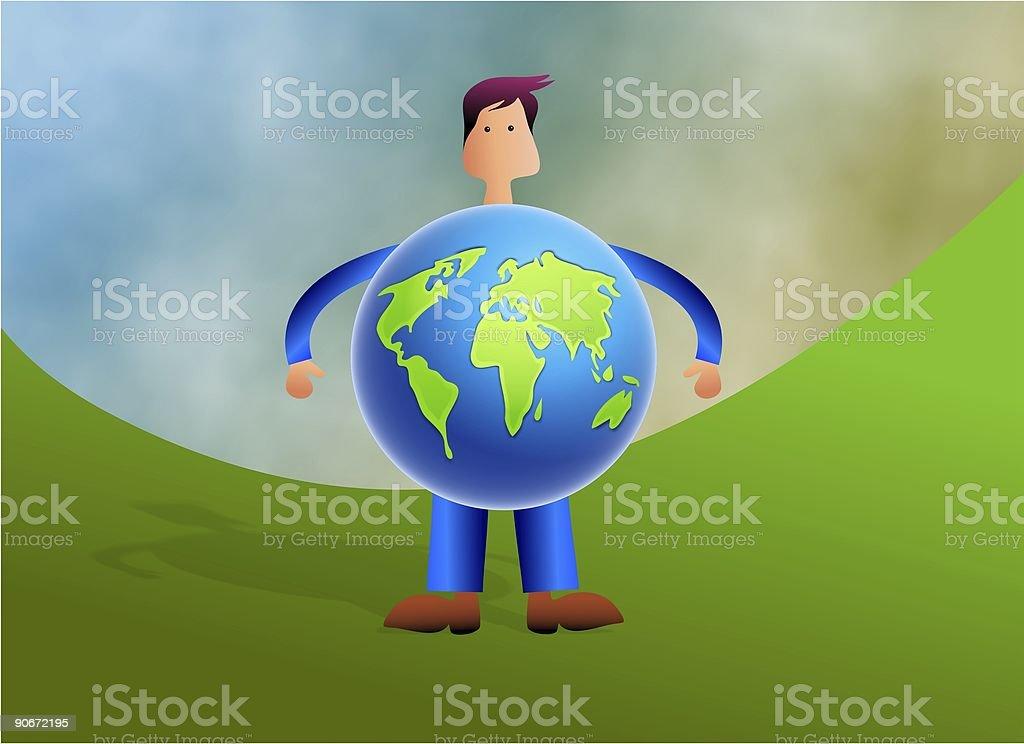 World Man royalty-free stock vector art