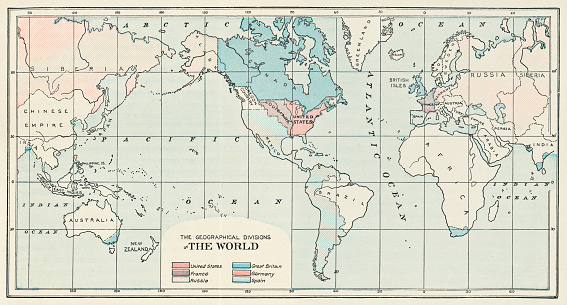 World Map circa 1803 - Early 19th Century