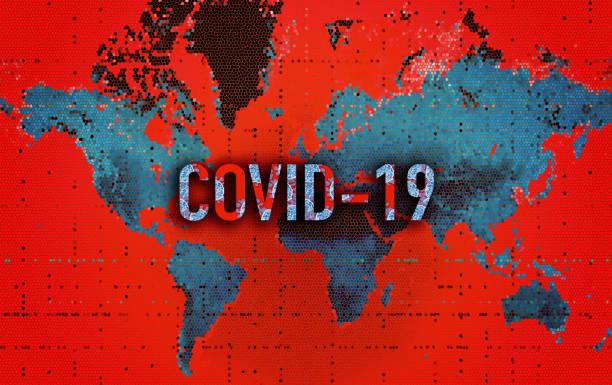 illustrazioni stock, clip art, cartoni animati e icone di tendenza di world map- coronavirus (covid-19) - lockdown