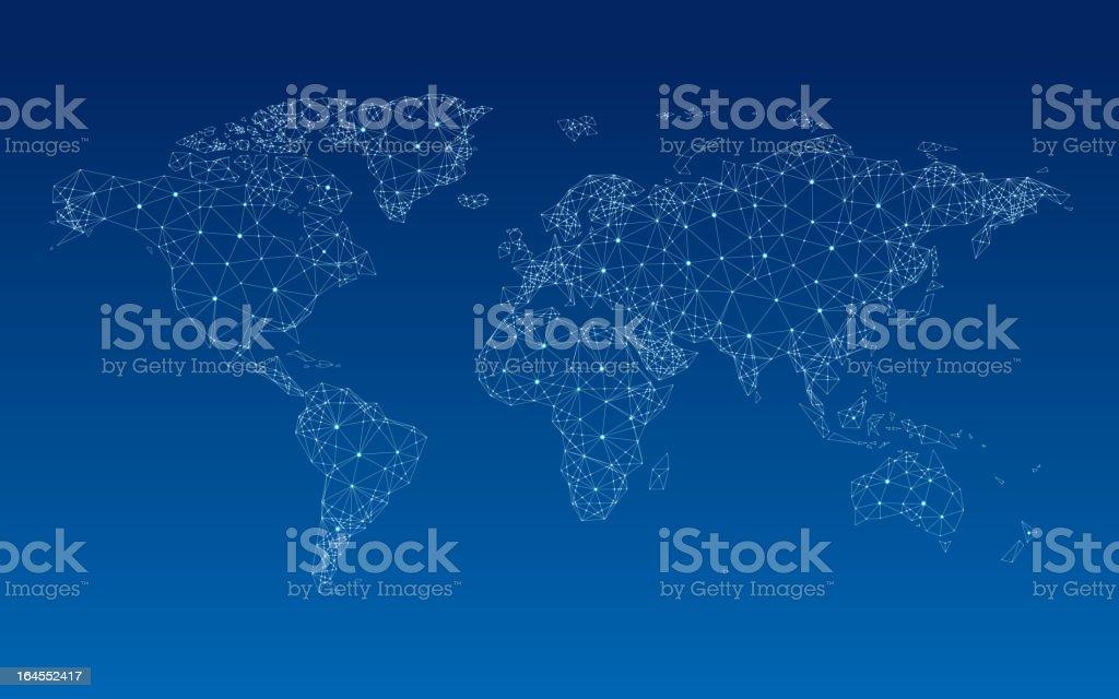 World Weltkarte – Vektorgrafik