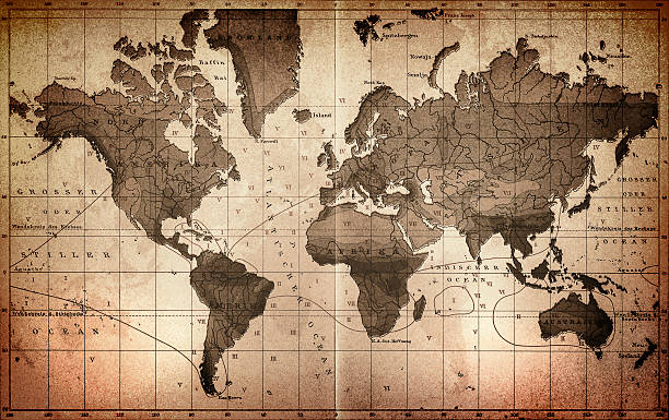 Royalty free old clip art vector images illustrations istock world map vector art illustration gumiabroncs Images