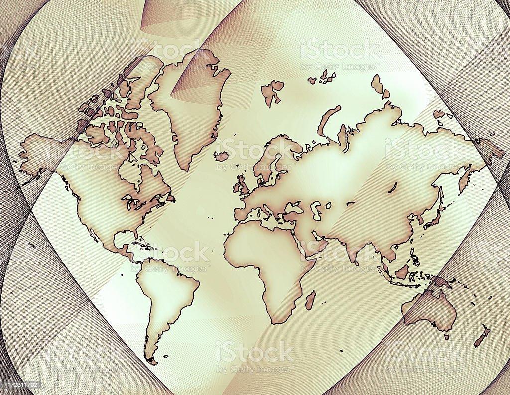 Monde carte XXL - Illustration vectorielle