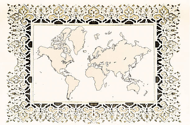 world map xxl - treasure map backgrounds stock illustrations, clip art, cartoons, & icons
