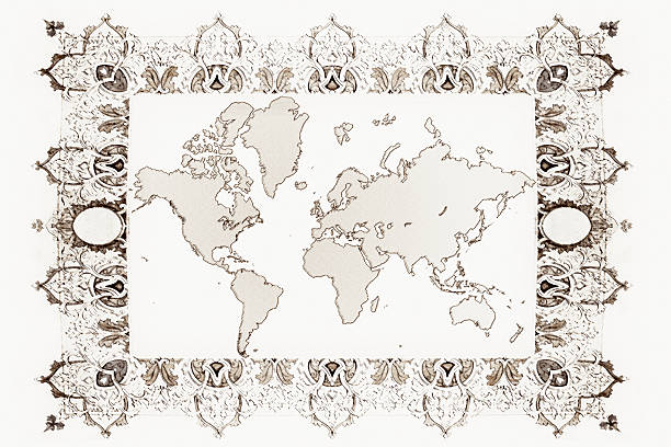 world map xxl - treasure map backgrounds stock illustrations