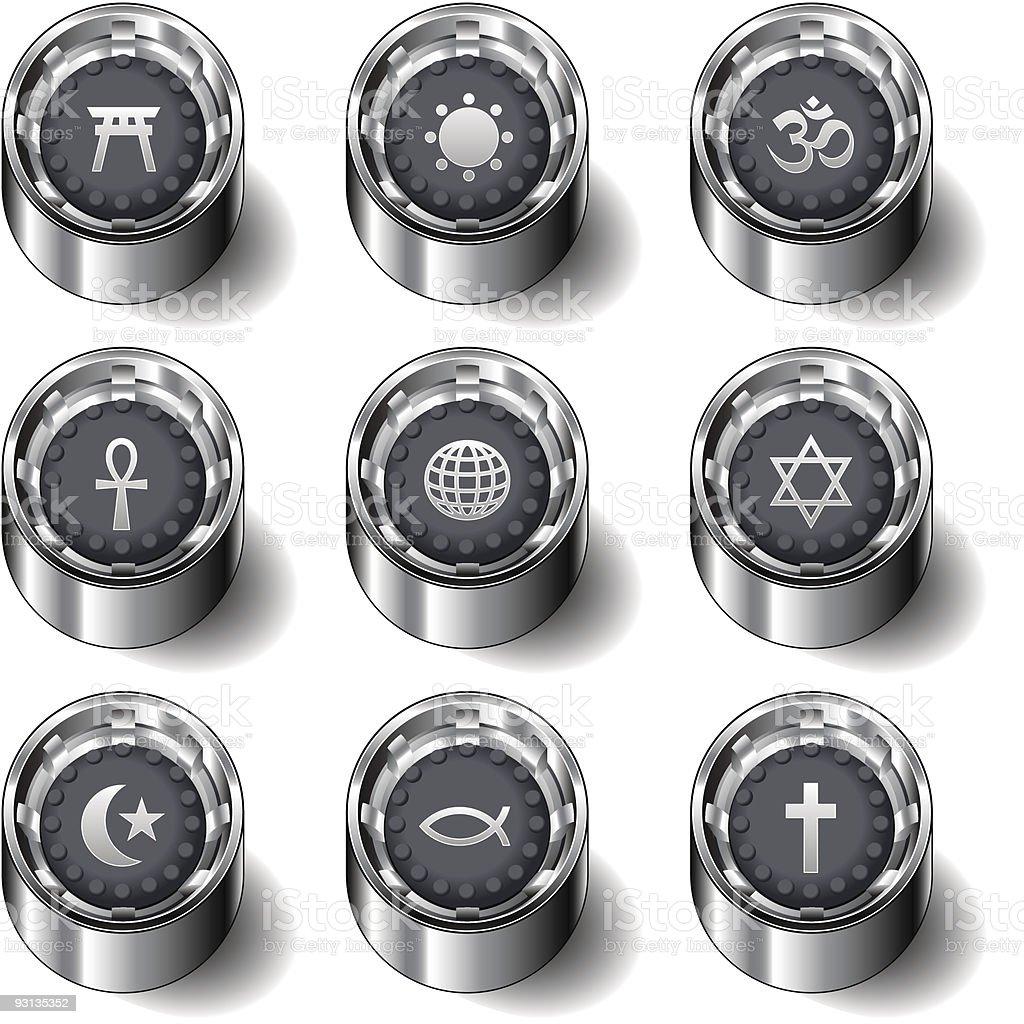 World religious symbol icon set royalty-free world religious symbol icon set stock vector art & more images of ankh