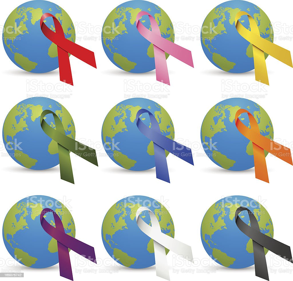 World Ribbons vector art illustration