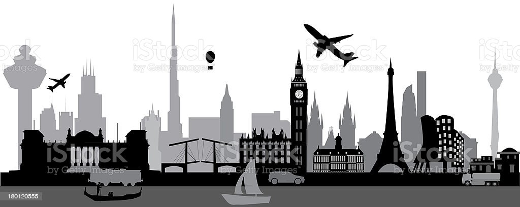 world skyline royalty-free world skyline stock vector art & more images of architecture
