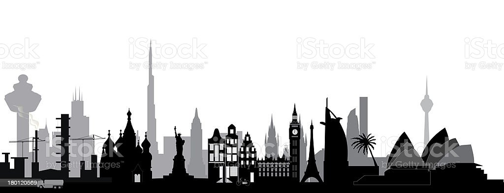 world skyline royalty-free stock vector art