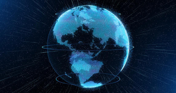 World Sphere Hologram Virtual Planet Earth Stock ...