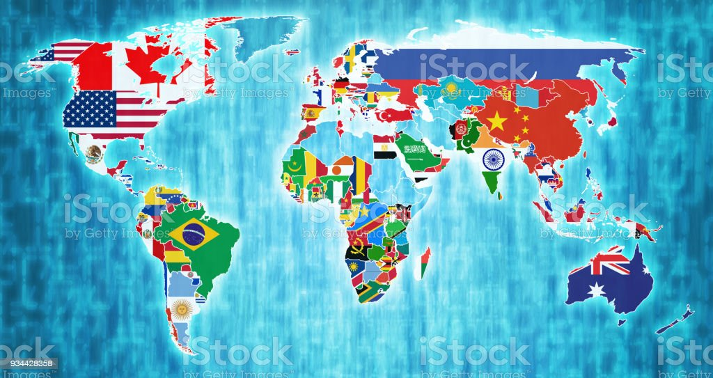 World map by flags new political world map vector illustration flags world trade organization member countries flags on world map royalty free world trade organization member gumiabroncs Choice Image