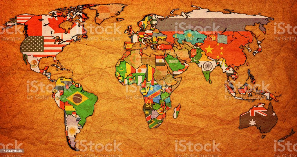World trade organization member countries flags on world map stock world trade organization member countries flags on world map royalty free world trade organization member gumiabroncs Images