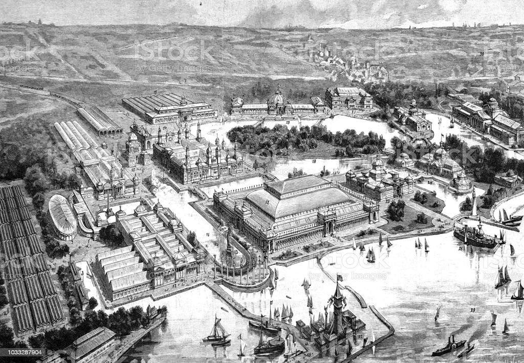 シカゴ 1893 のシカゴ万国博覧会 - 1890~1899年のベクターアート素材 ...