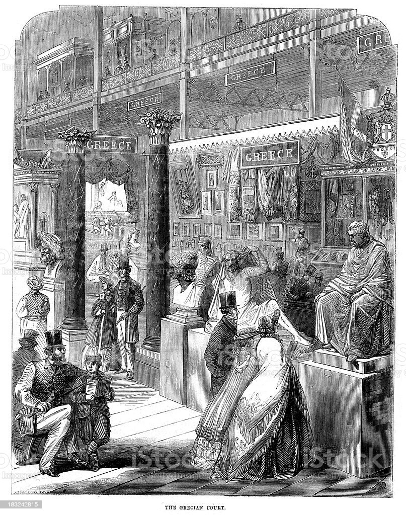 World's Fair 1862 London royalty-free worlds fair 1862 london stock vector art & more images of 1860-1869