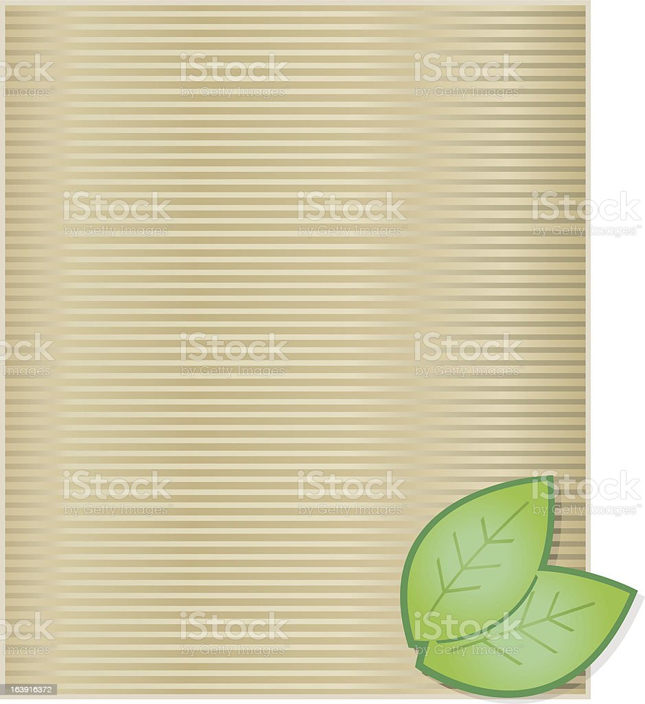 Wrapping paper with Leaf. royalty-free stock vector art