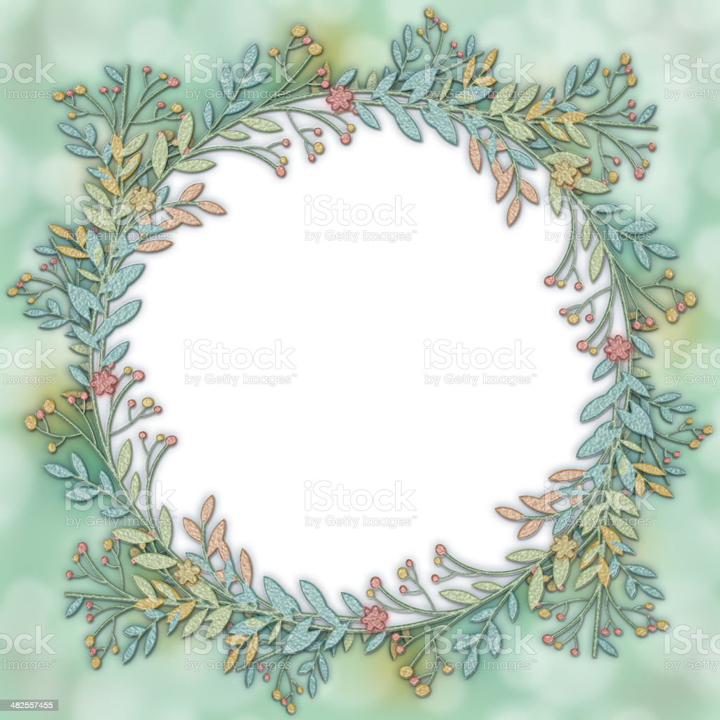 Wreath Frame Background vector art illustration
