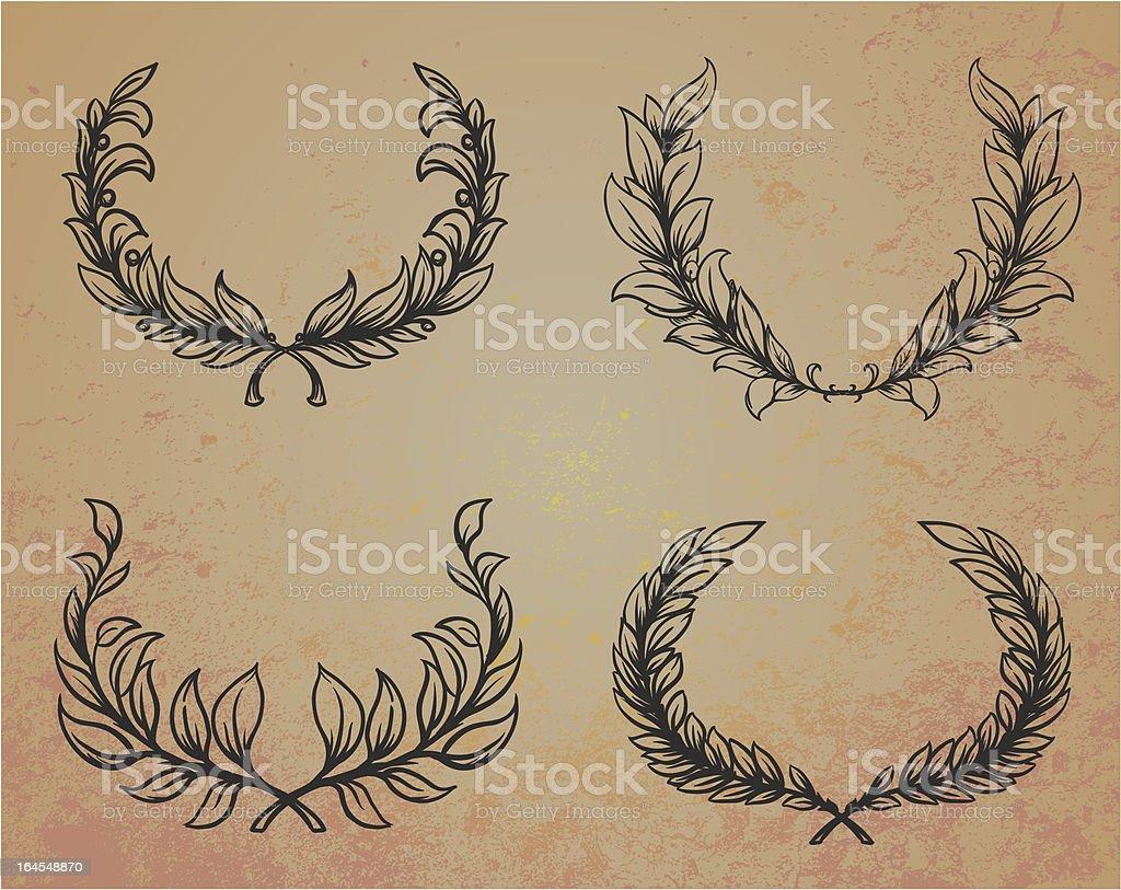 Wreaths royalty-free stock vector art