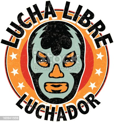 lucha libre luchador stock vector art amp more images of