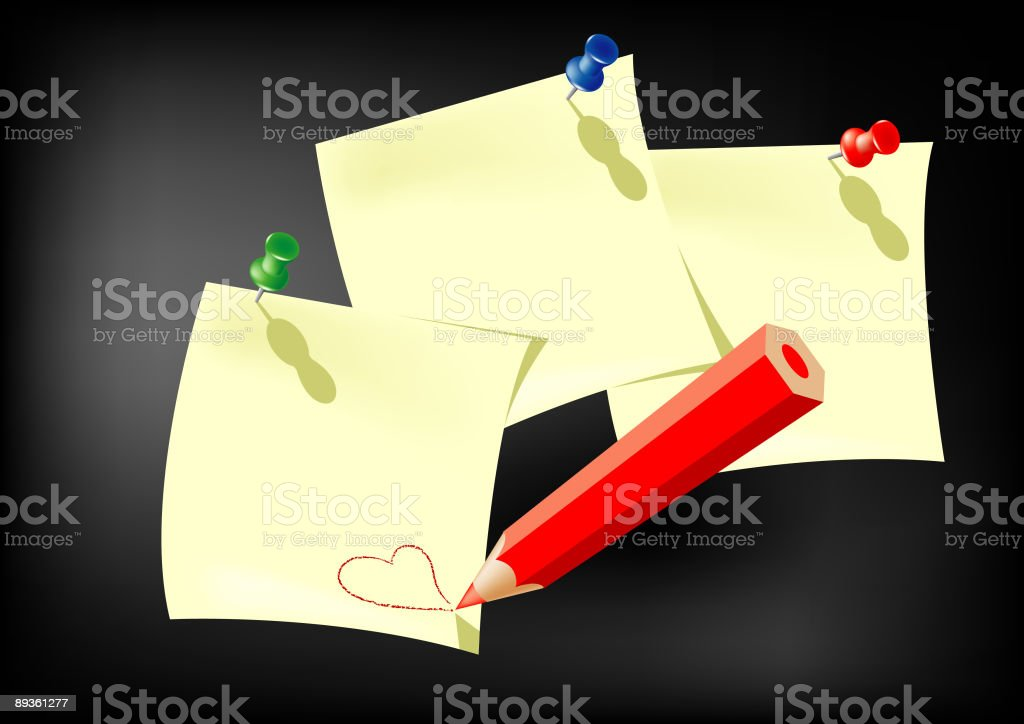write your (love) message royalty-free stock vector art