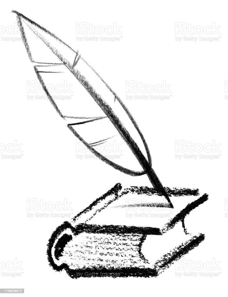 writer icon vector art illustration