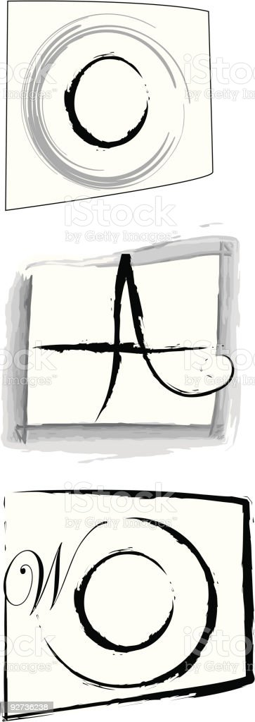Writer logo royalty-free stock vector art