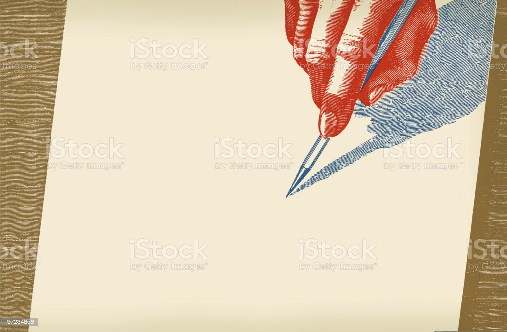 Writing vector art illustration