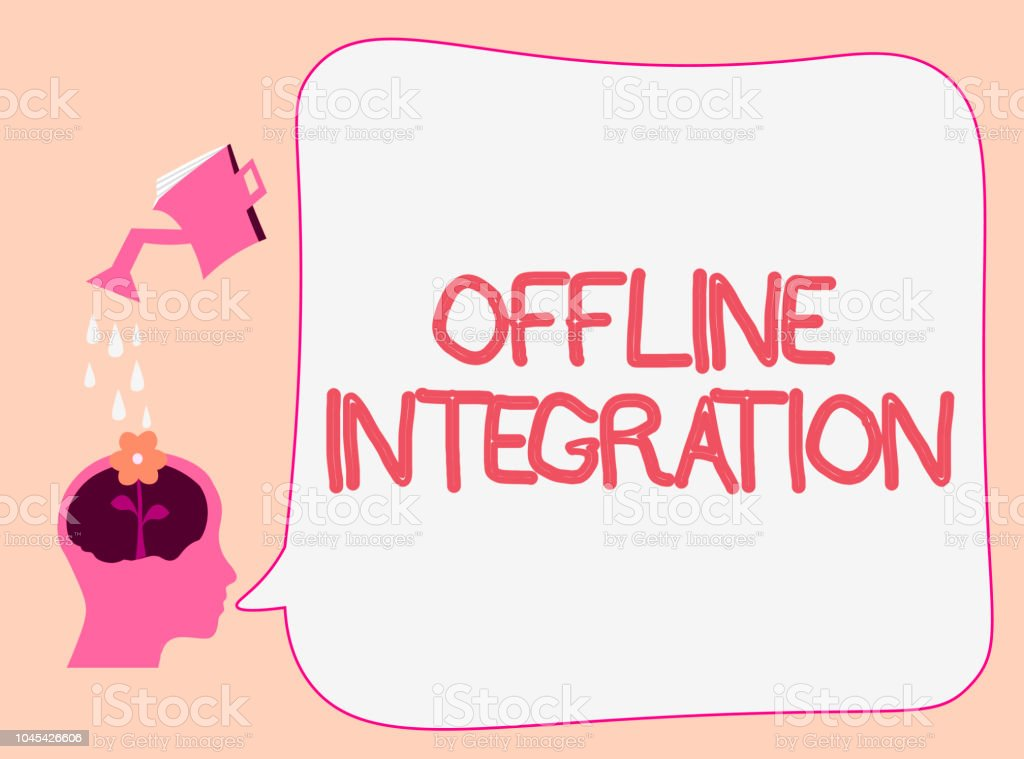 Writing Note Showing Offline Integration Business Photo