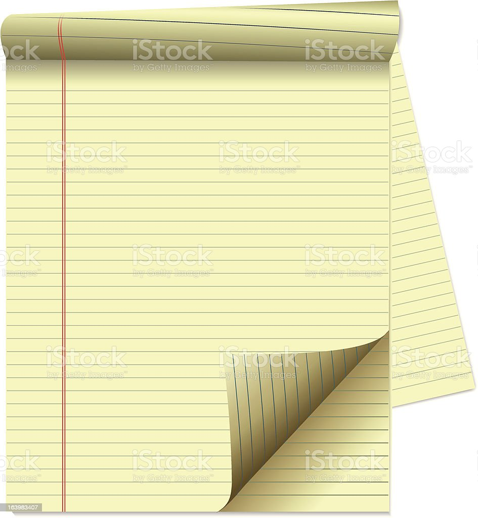 Writing-pad with yellow lined paper royalty-free writingpad with yellow lined paper stock vector art & more images of backgrounds