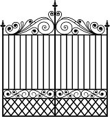 Wrought Iron Gate (Vector)