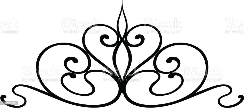 wrought iron scroll royalty-free stock vector art