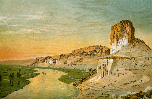 reproduction of Cliffs Of The Upper Colorado River Wyoming Territory
