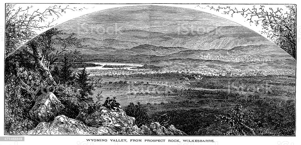 Wyoming Valley, Pennsylvania   Historic American Illustrations royalty-free wyoming valley pennsylvania historic american illustrations stock vector art & more images of 19th century